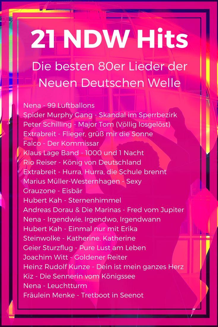 21 NDW Lieder - Die besten 80er Hits der Neuen Deutschen Welle #NDW #Hits #NeueDeutscheWelle #Achtziger #Lieder #80er