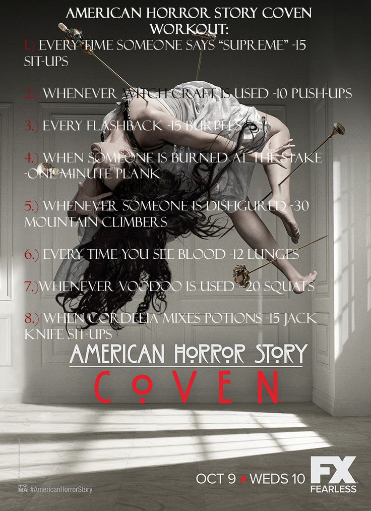 American Horror Story Coven Workout #AHS #fitness #workout #halloween