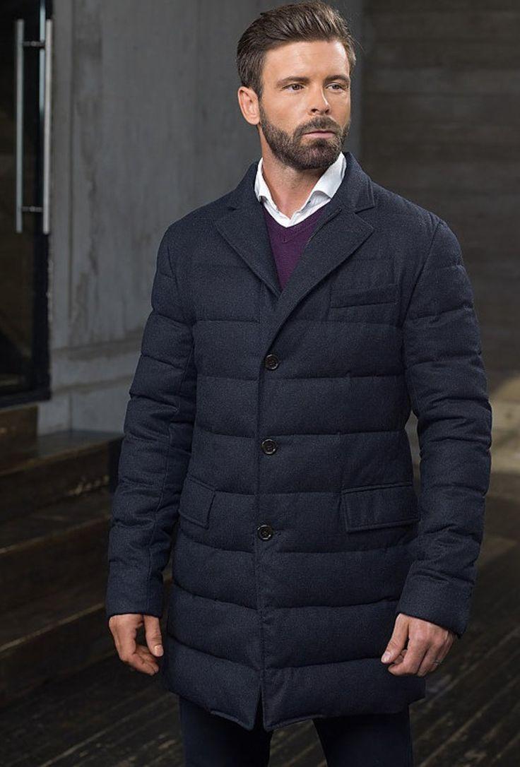 Мужская коллекция.Шерстяное утепленное мужское пальто. Laplandia For Man