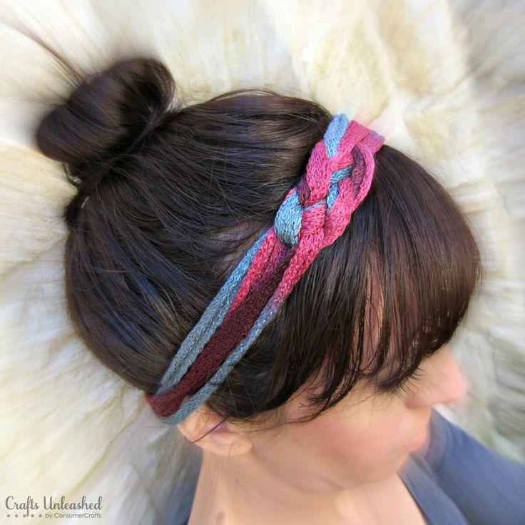 DIY Headband Tutorial Made With Ruffle Yarn