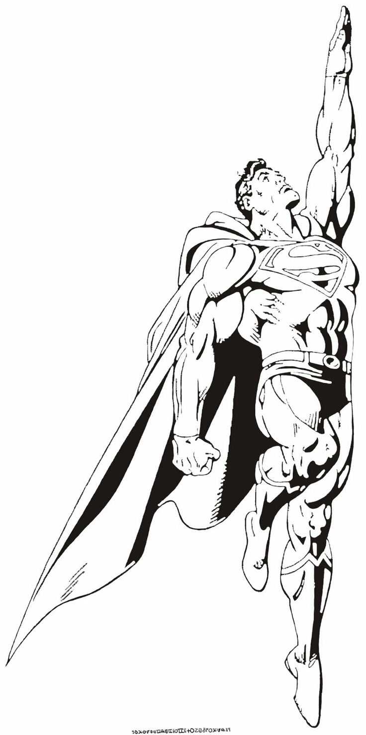 Free printable coloring pages superman - Superman Fly Coloring Pages