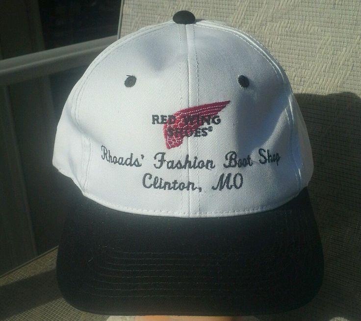 Hat RED WING SHOES Rhodes Fashion Boat Shop Clinton Mo Snapback Baseball | eBay