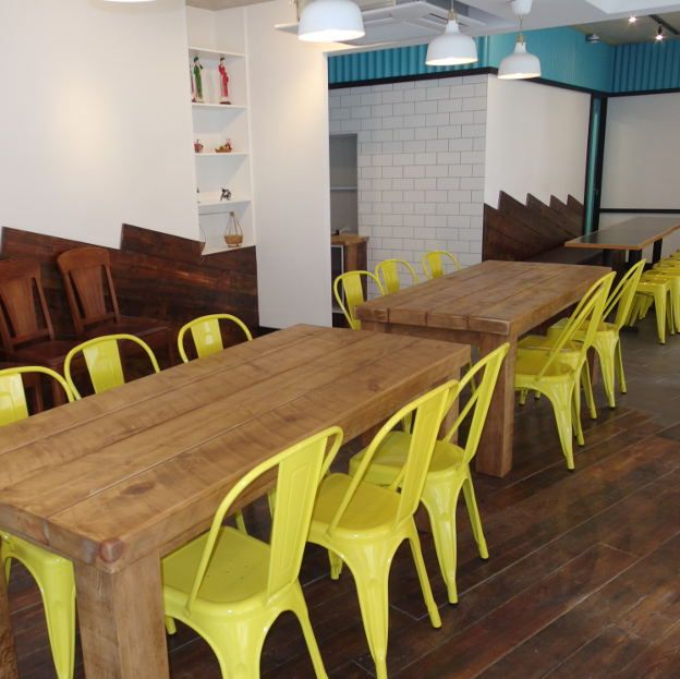 For this Vietnamese restaurant in London, work carried out by Thames Contracts, we provided our Original face Pine for flooring and cladding.