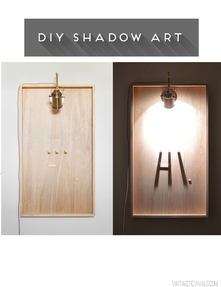 DIY Shadow Art + Video