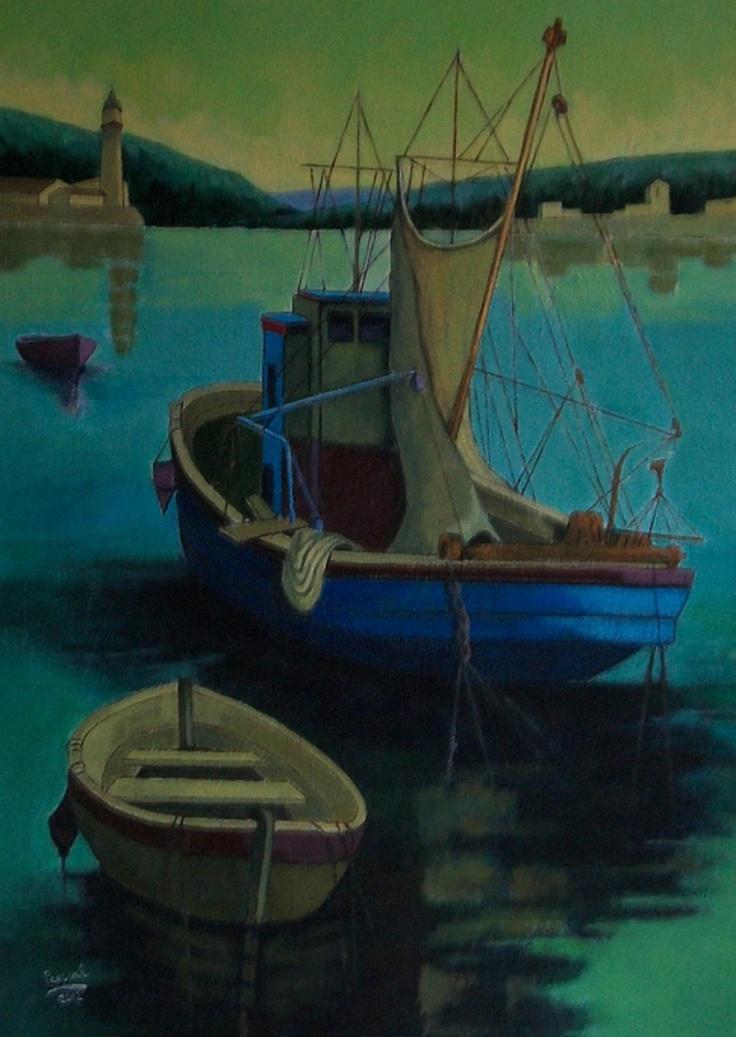 Titulo: El faro, acrílico sobre lienzo, 70 x 50, 700 €