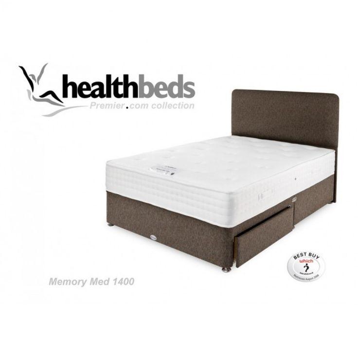 Healthbeds Memory Med 1400 Divan Bed. Free Delivery.