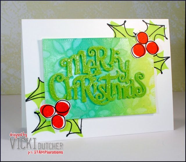 All I Do Is Stamp-- Designs by Vicki Dutcher using ARTplorations stencils and MC Word die