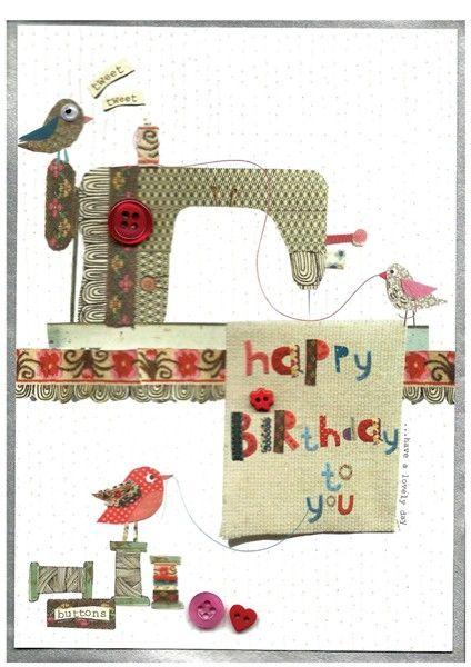 thimble » happy birthday to you » happy birthday to you - Cinnamon Aitch Greetings Cards