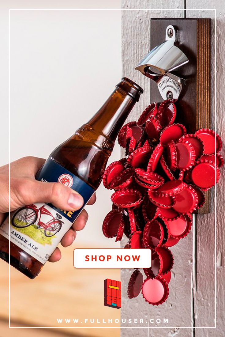 Dropcatch Magnetic Bottle Opener Unique Gadgets For Beer Lovers As Soon As You Open Your Bottle With A Magnetic Bottle Opener The Magnetic Wooden Piece Cat