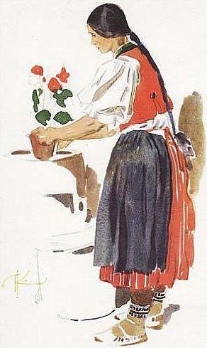 Rusava - I wonder what's the dark brown on her legs, taller stockings under her socks?