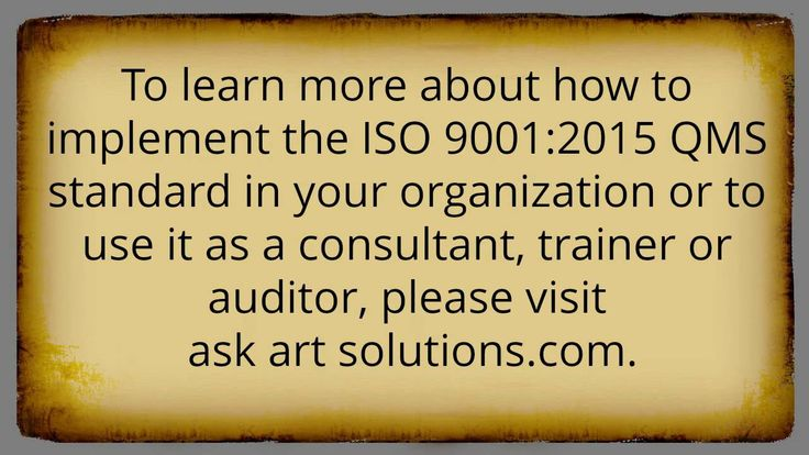 ISO 9001:2015 Consulting - Frequently Asked Questions Part 4