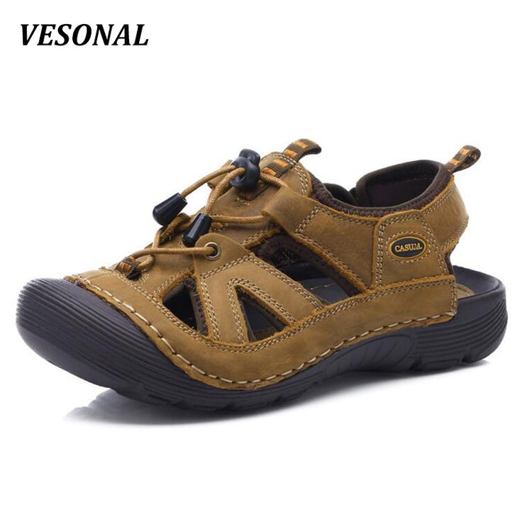 ==> [Free Shipping] Buy Best VESONAL Summer Closed Top Genuine Leather Sandals Men Shoes Outdoor Climb Beach Fashion Sandalias Casual Slippers For Mens V1620 Online with LOWEST Price | 32802304927
