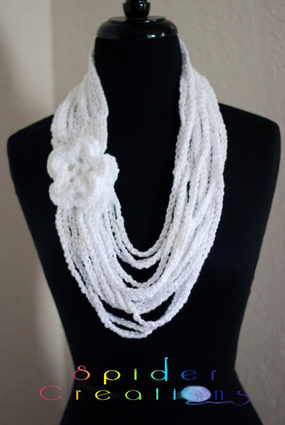 ... on Pinterest | Scarf necklace, Crochet chain scarf and Loop scarf