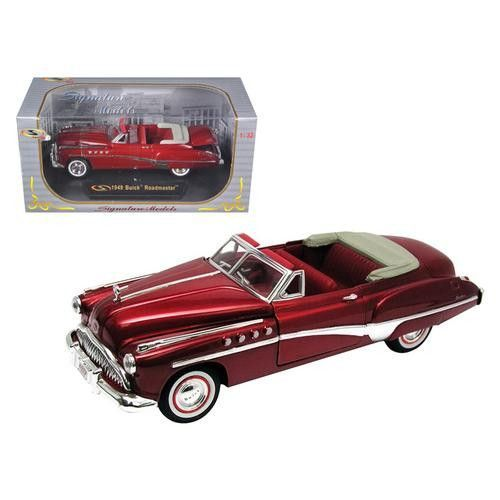 1949 Buick Roadmaster Convertible Red 1/32 Diecast Model Car by Signature Models