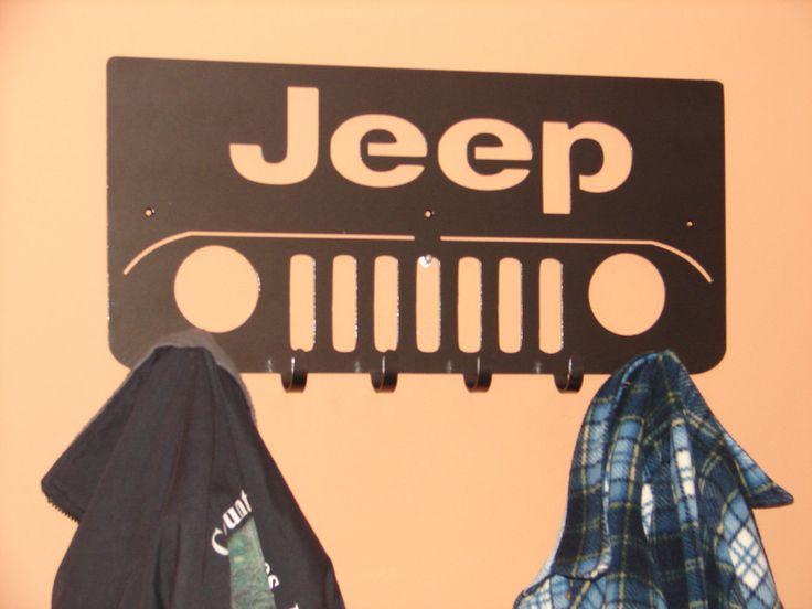 Jeep Front COAT RACK Robe Hook Metal Cabin Garage Hanger 4x4. $59.99, via Etsy.