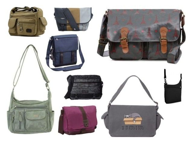 """""""Travel Essentials ... Messenger Bags"""" by beavercity on Polyvore featuring Cabrelli, Timbuk2, G.H. Bass & Co., Preferred Nation, Dakine and Pacsafe"""