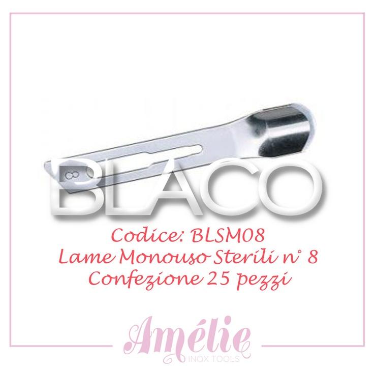 Amelie inox tools sgorbia box 25pz num. 8