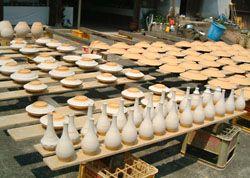 Ontayaki pottery village Japan
