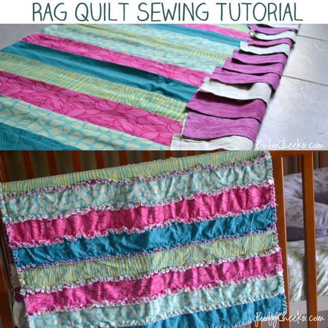 An easy rag quilt sewing tutorial - the perfect beginner quilt and gift for baby!