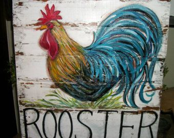 Chicken Kitchen Decor 9 best roosters images on pinterest | rooster painting, rooster