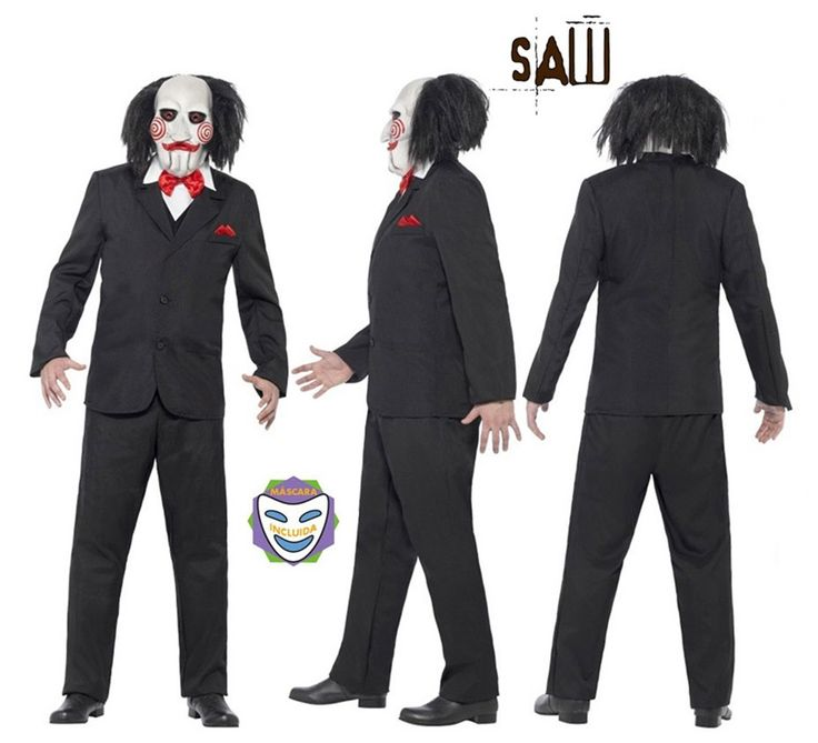 Disfraz de Títere Bill de Saw Jigsaw para Hombre talla M | Disfrazzes | Tienda de disfraces online