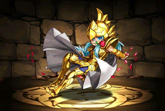 Cavaleiro de ouro - Afrodite de Peixes - versão chibi