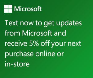 Sign up for Text Messages from Microsoft and Receive 5% off Microsoft Online Purchases! - http://www.thecouponingcouple.com/sign-up-for-text-messages-from-microsoft-and-receive-5-off-microsoft-online-purchases/    Sign up for Text Messages from Microsoft and Receive 5% off Microsoft Online Purchases! Looking for deals from the Microsoft Store? Sign up to get the latest news, events and offers delivered to your phone via text. For signing up, you'll receive 5% off your