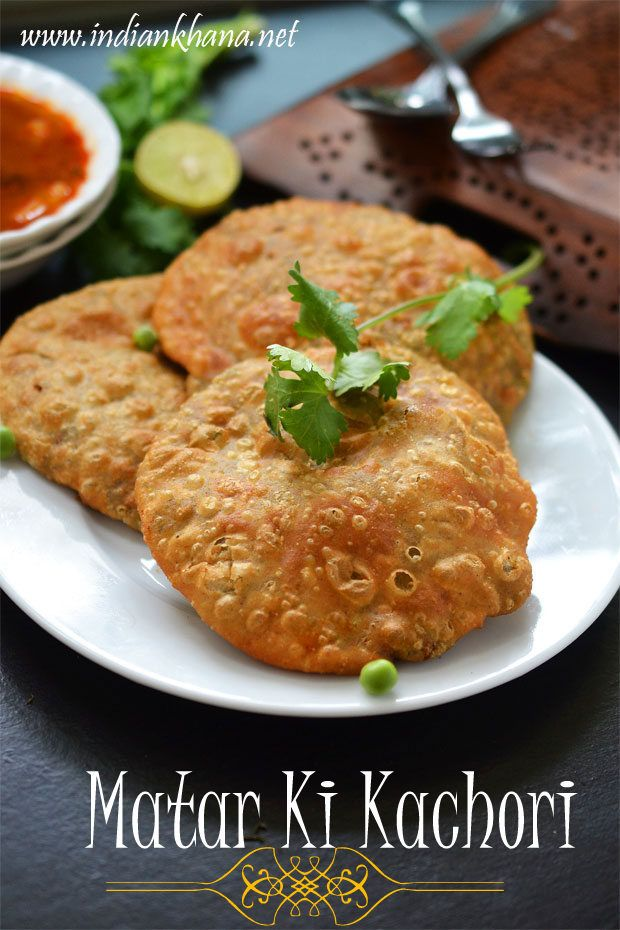 Matar Kachori  is is flaky, crispy deep fried pastry filled with spiced peas filling and it's popular North Indian breakfast than snack