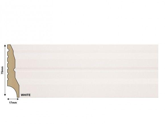 Promax Trendy Skirting White   CTM