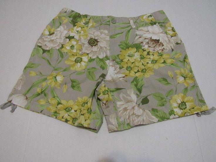 Caribbean Joe Women's Floral Shorts Size 12 #CaribbeanJoe #CasualbermudaShorts