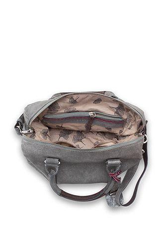 high-quality suede city bag