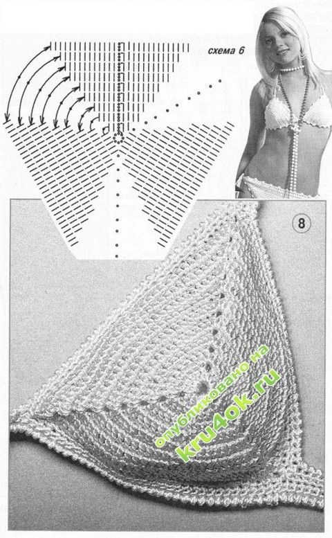 scheme of knitting swimsuit  - Knit