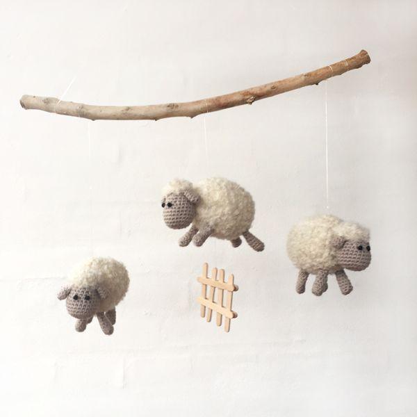 Gratis hækleopskrift – Et får... To får... Tre får...