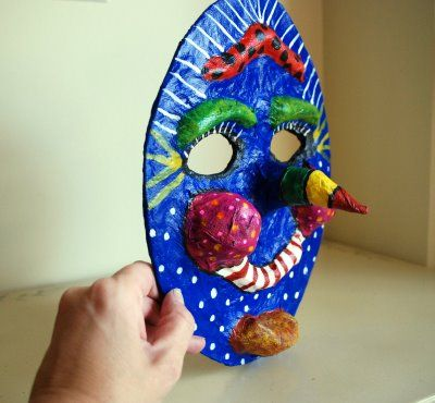 How to make a Paper Mache Mask - Art Project