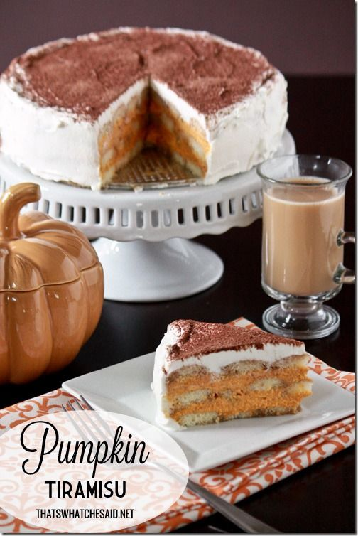 Pumpkin Tiramisu Recipe + Pumpkin Spice Coffee Giveaway!