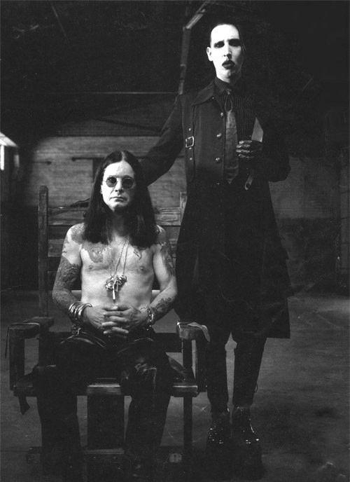 Ozzy Osbourne & Marilyn Manson. When my idols collide it makes me so happy! xD