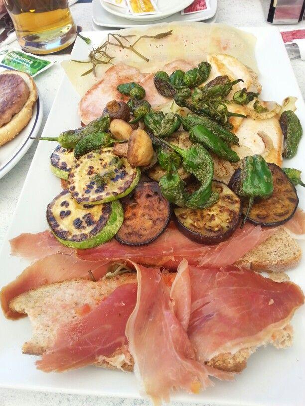 Beautiful local food at Cacatua Restaurant (beachfront Ca'n Picafort)