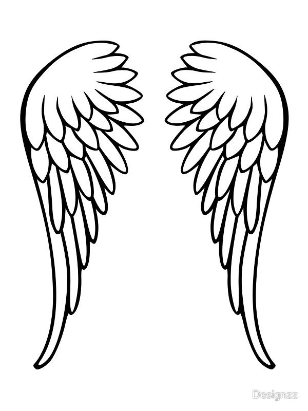 angel wing cut out template - photo #33