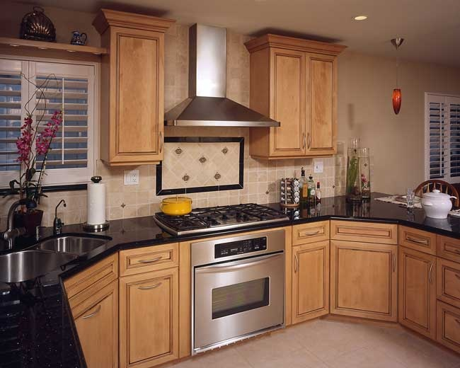 Wall Oven And Cooktop Combo In A Range Format Stuff Junk Transitional Kitchen