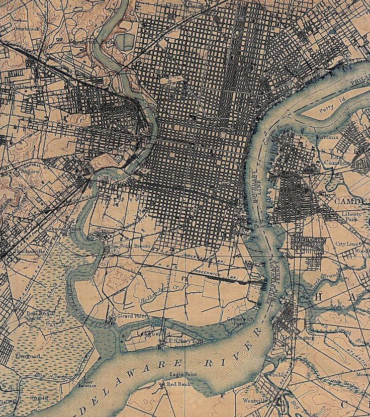 Lovely map of Philadelphia circa 1898 map