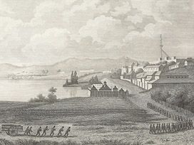convicts near Hobart wharf