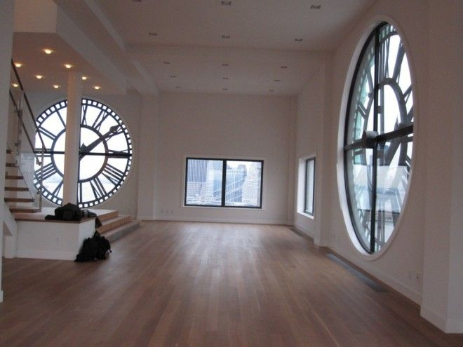 This place is in NY. I would love a place with big clocks like those. This place is he coolest house I have ever seen