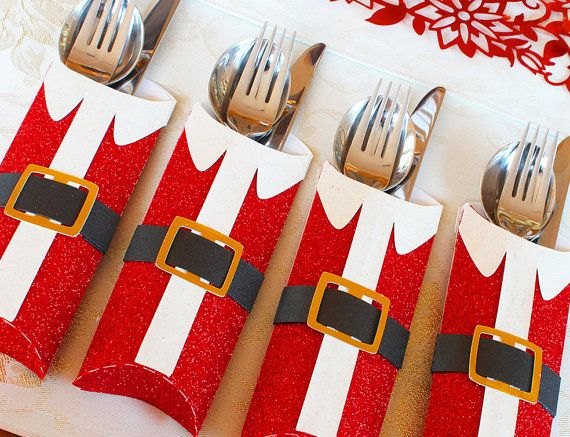 3D SVG PDF Santa Cutlery holder DIGITAL Download