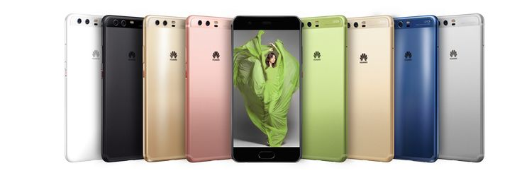 Huawei P10 comes in many colours. The new flagship packs a 12mp rear and 8mp front camera. Powered by the Kirin 960 processor and  4GB RAM.