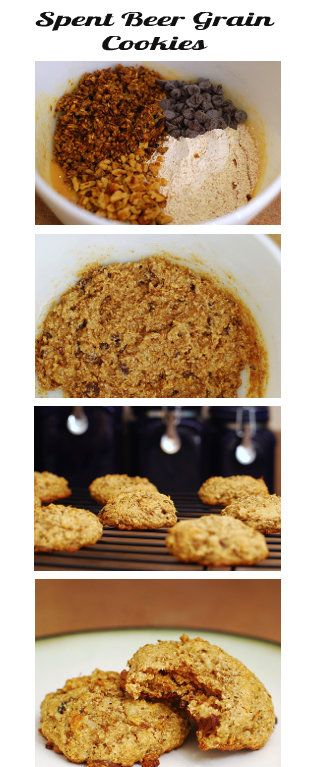 chocolate chip cookie recipe made using spent grains from brewing beer. Great idea! http://www.omnomicon.com/spent-grain-cookies
