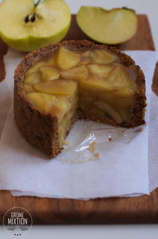Apfel-Mandel-Küchlein mit rohköstlichem Boden, raw, vegan, glutenfrei, laktosefrei                                                                                                                                                                                 Mehr