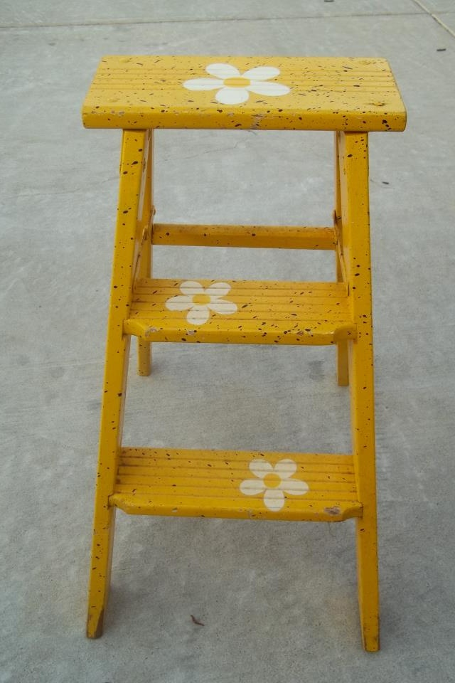 Wooden Step Ladder Repurposing Refinishing Pinterest