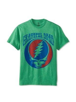 46% OFF Grateful Dead Men's Crew Neck Tee (Kelly Heather)