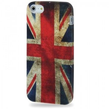 iPhone 5/5S Cases : Retro UK Flag Style TPU Case for iPhone 5