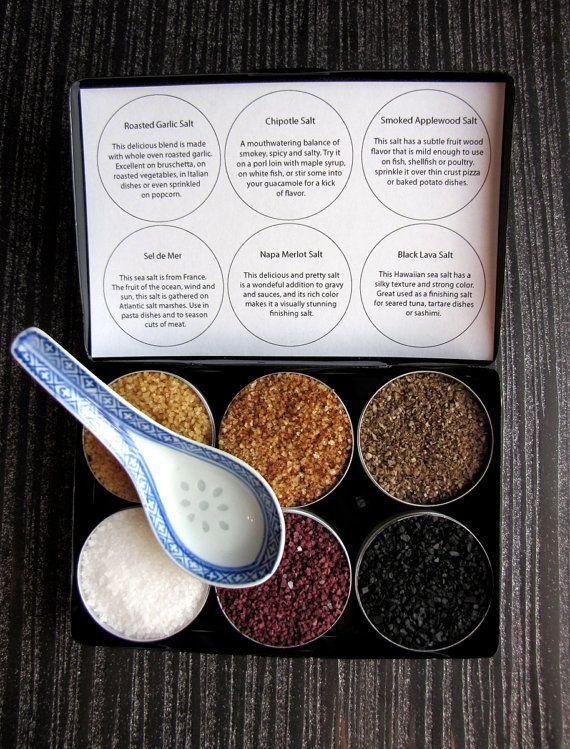 origin sea salts  gourmet seasonings from around by purposedesign, $18.00